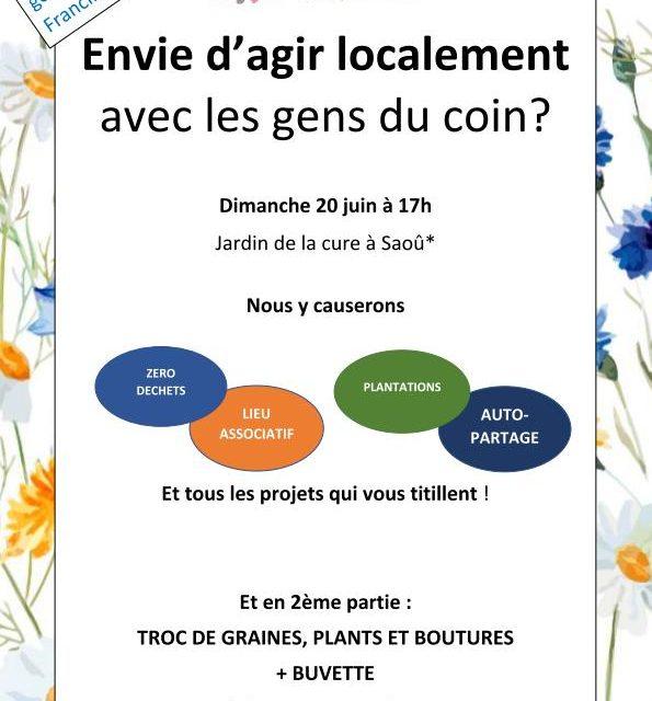 Réunion des Gens du Coin Dimanche 20 Juin à 17H